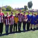 Соревнования по футболу среди команд общеобразовательных учреждений.